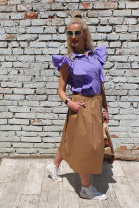 Košeľa Agata fialova