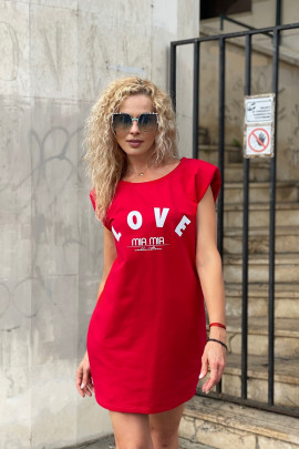 Šaty LOVE červené