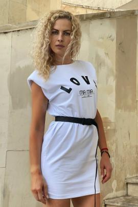Šaty LOVE biele