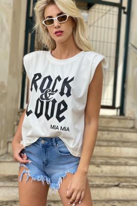 Tričko ROCK biele