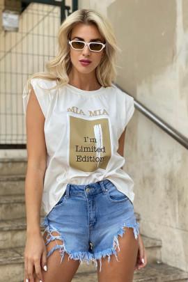 Tričko Limited biele