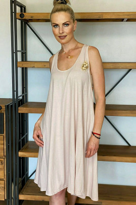 Šaty Oreste pudrové