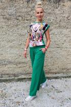 Nohavice Onorio zelené