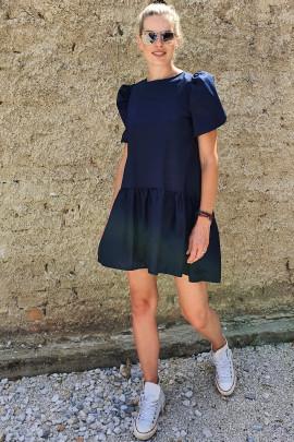 Šaty Aurora tmavomodré