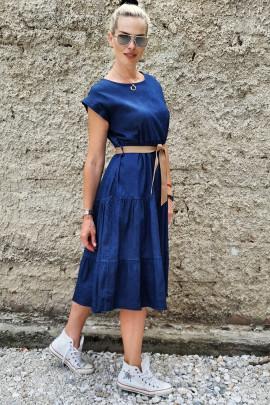 Šaty Izabela tmavomodré