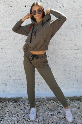 Mikina Mara khaki zelená