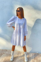Šaty Aneta biele