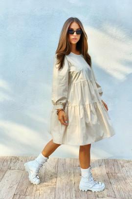 Šaty Aneta béžové