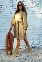 Šaty Aneta kamel
