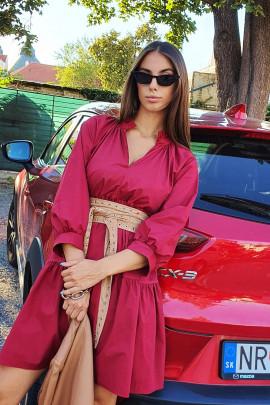 Šaty Verena bordové