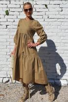 Šaty Marilena kamel