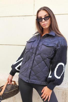 Páperová bunda Senia čierna