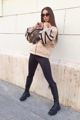 Páperová bunda Siena béžová