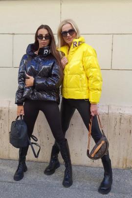 Páperová bunda Paladio žltá
