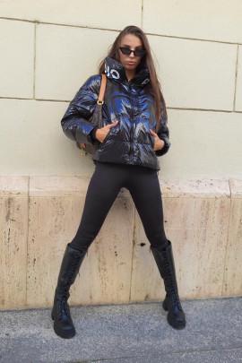 Páperová bunda Paladio čierna