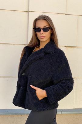 Kabát Teddyno čierny