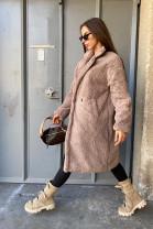 Kabát Teddy bahnový