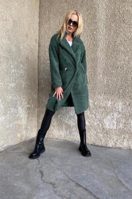 Kabát Teddy zelený