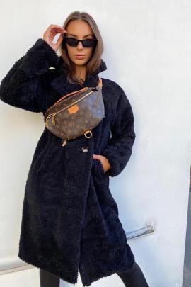 Kabát Teddy čierny