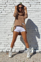 Mikina Jordan hnedá